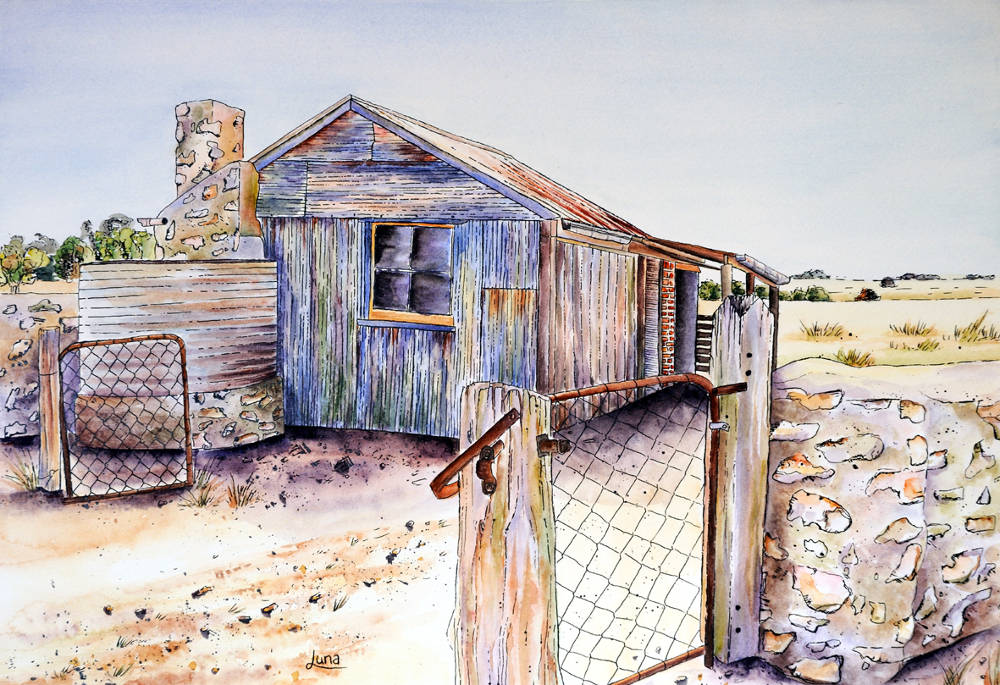 farm shed on yorkes painting luna vermeulen