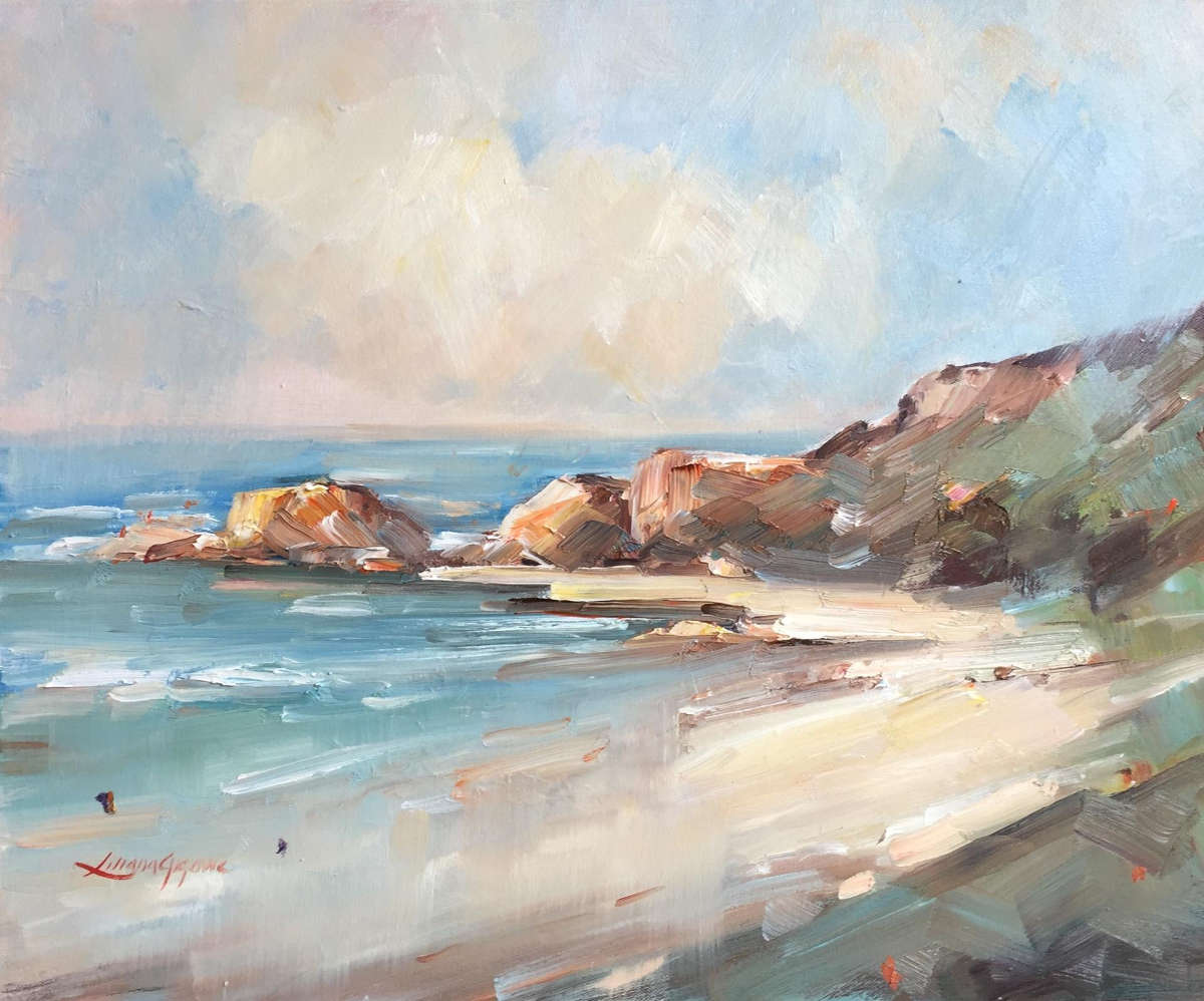 gem of the coral coast #3 painting liliana gigovic