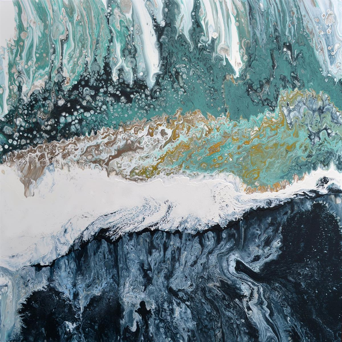 abstract waterfall painting brigitte ackland