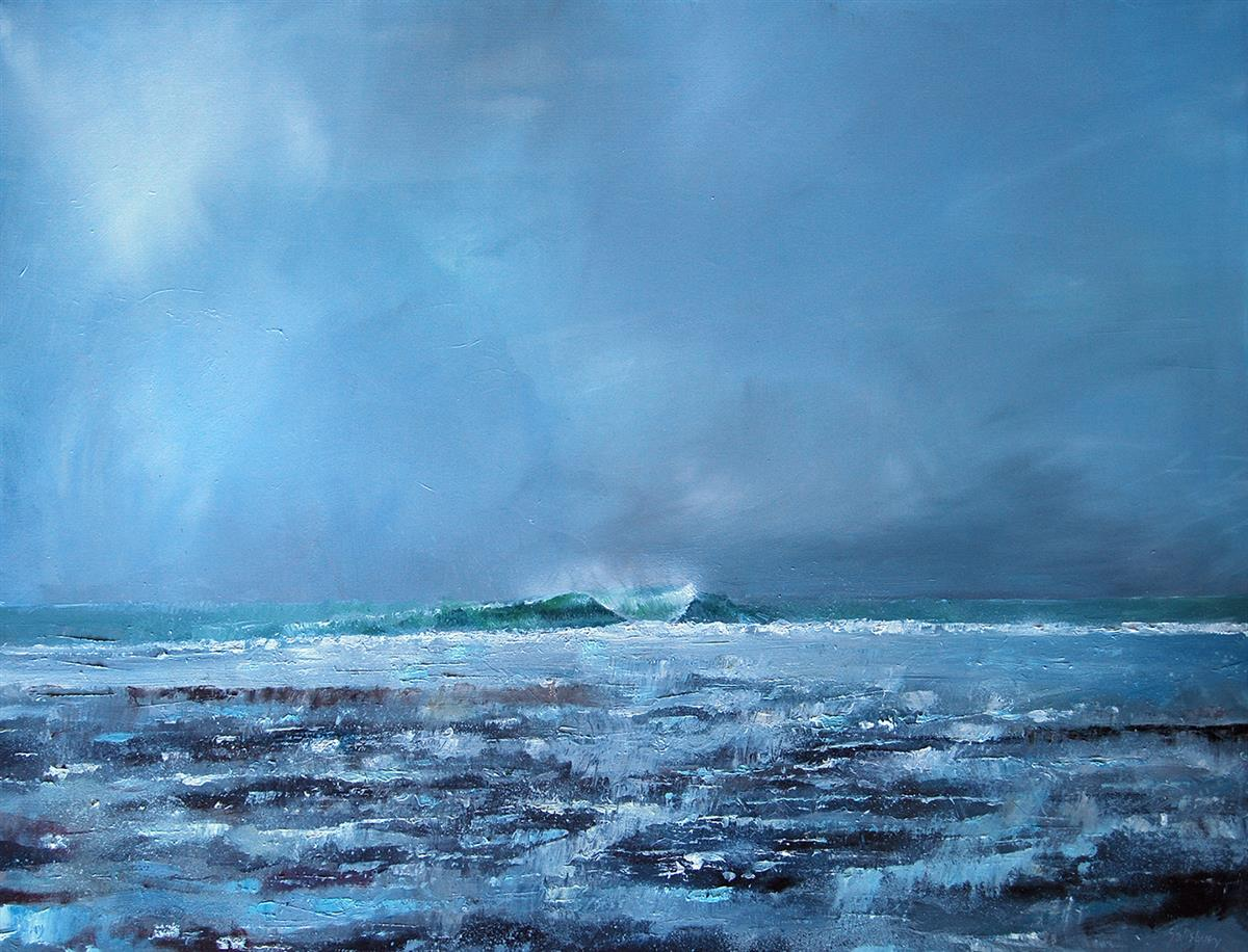 reef break low tide painting trevor salisbury
