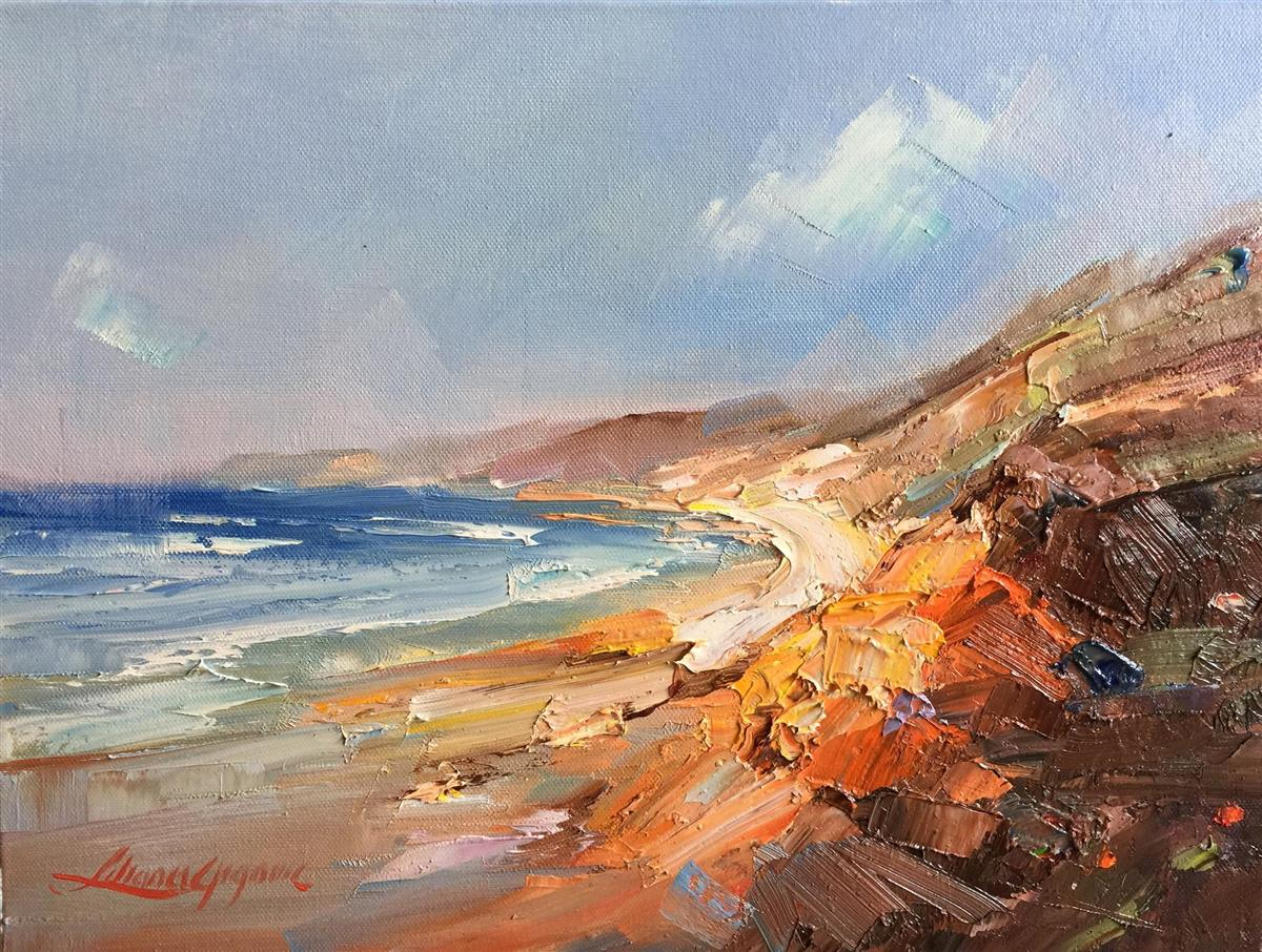 rainbow beach painting liliana gigovic