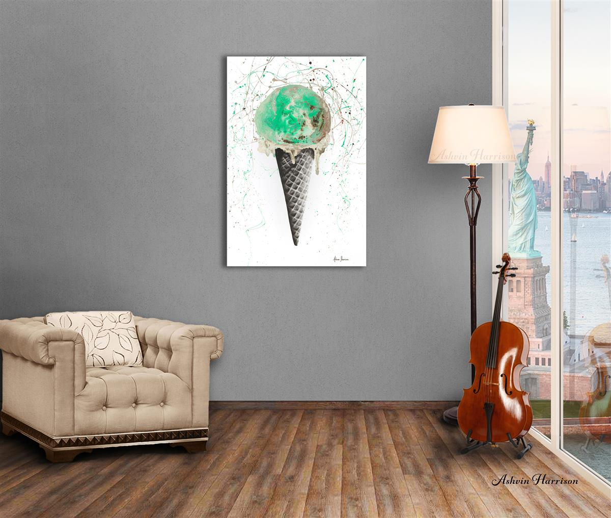 mint and chocolate painting ashvin harrison