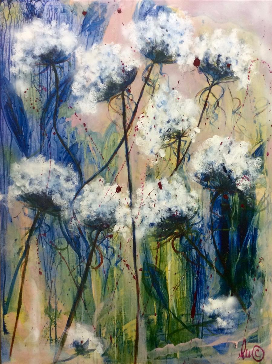 like a dandelion painting louise croese