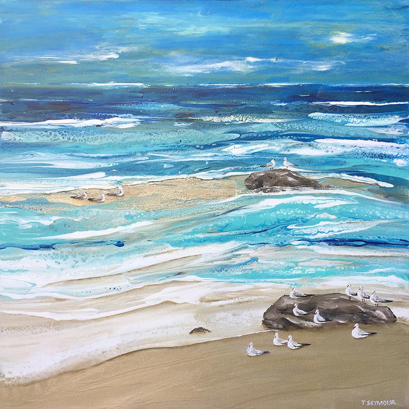 metallic sands painting treena seymour
