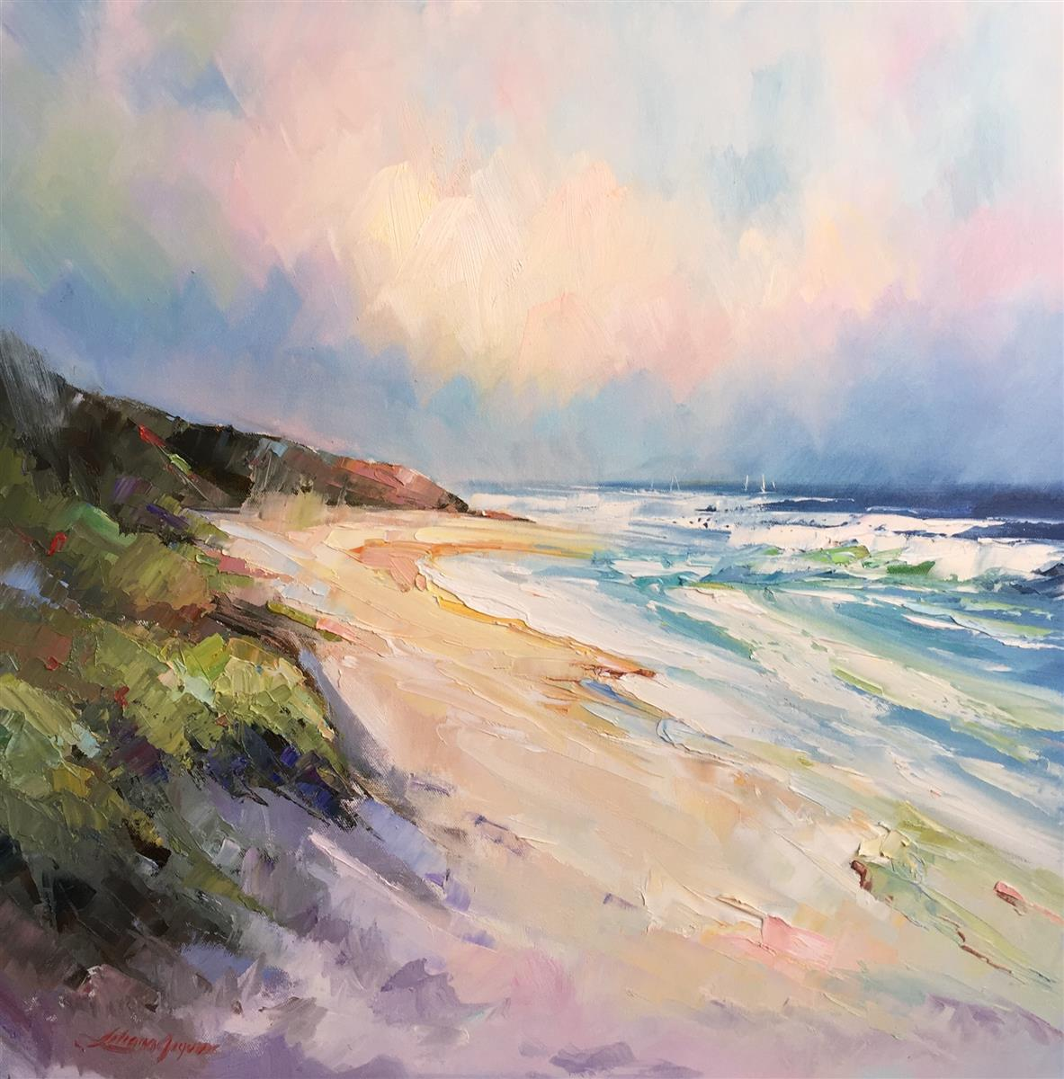 sand dunes at portsea back beach #2 painting liliana gigovic