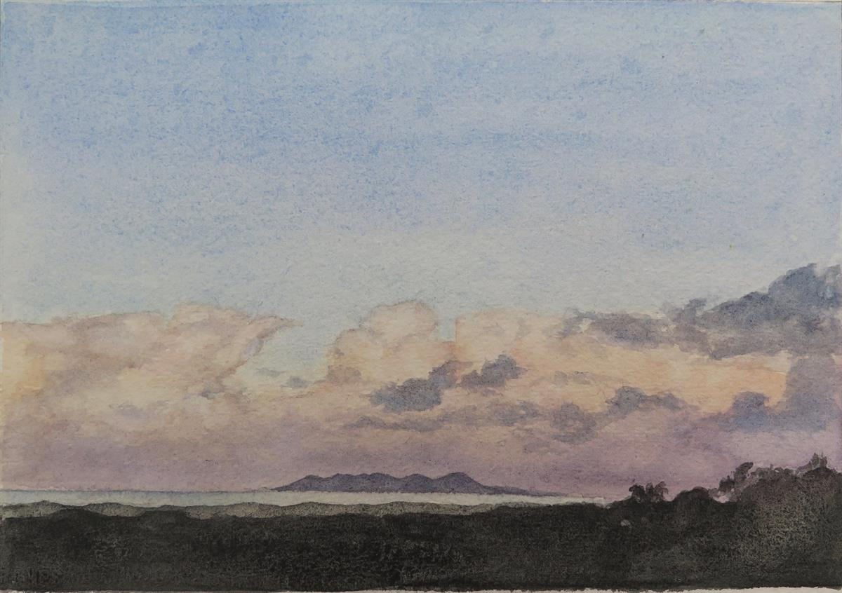 big sky, byron bay painting prem mita