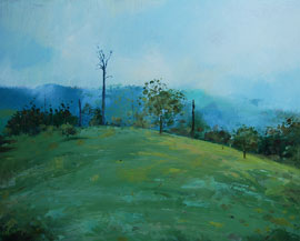 lightning struck. tamborine mountain painting trevor salisbury