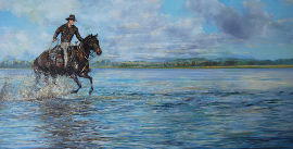 the race.cominya painting trevor salisbury