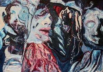 grotesquerie of trauma i painting thelma van rensburg