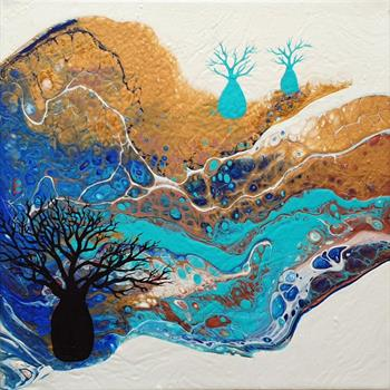 blue boabs #2 painting brigitte ackland
