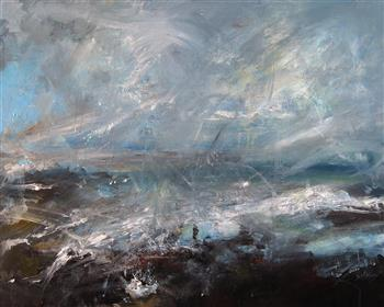 storm at sea painting trevor salisbury