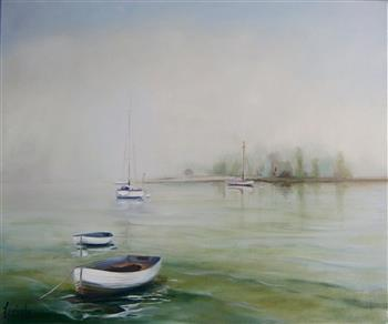 moored painting lucinda leveille