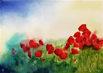 poppy field painting lucinda leveille