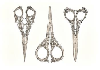 vintage scissors iii drawing veronica lamb