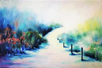 the surf path painting lucinda leveille