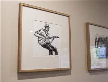 the guitarist limited edition print matthew broughton