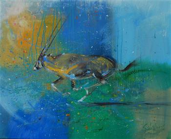 oryx gazella level five painting trevor salisbury